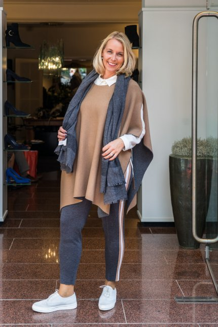 Le Tricot Perugia blouse pantalon cape shawl  najaar winter 2018 2019